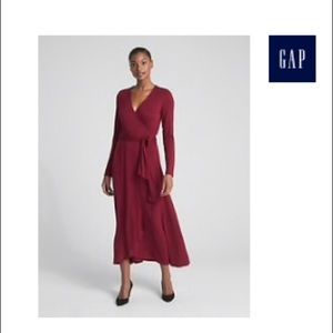 Gap wrap midi dress